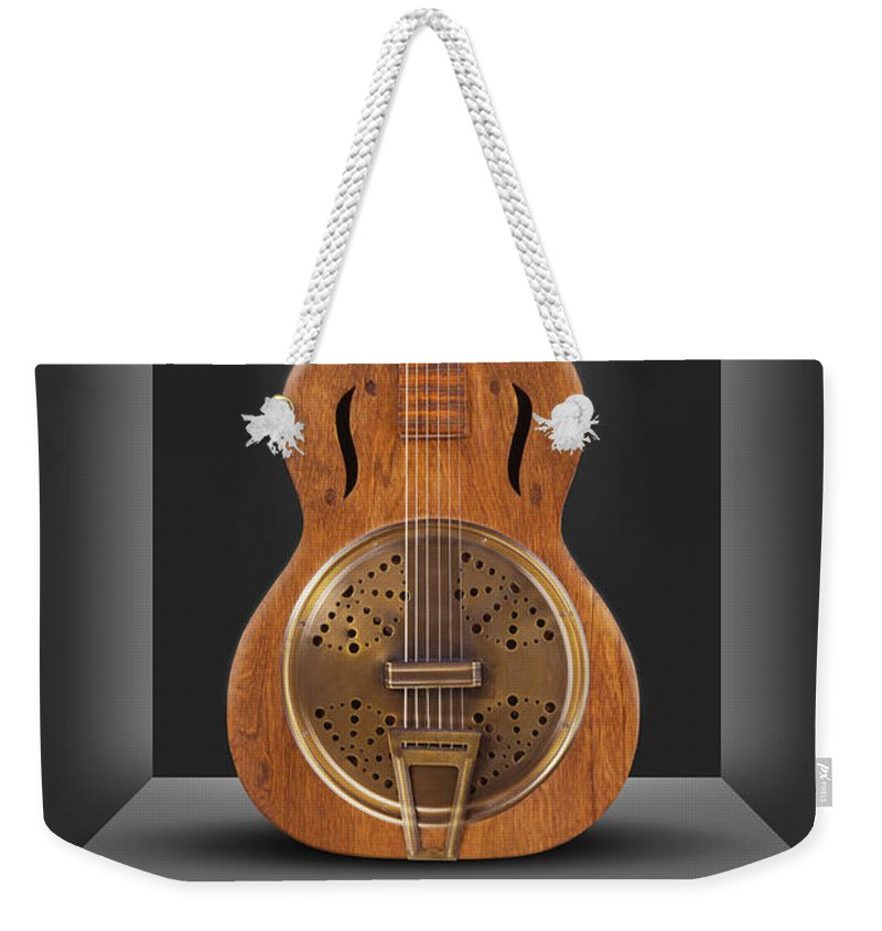 Spot Light Weekender Tote Bag featuring the photograph Dobro In A Box by Mike McGlothlen