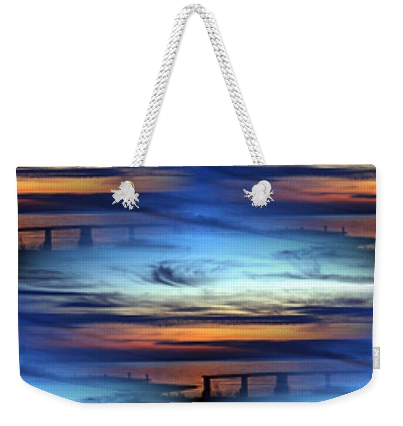 Dock Weekender Tote Bag featuring the photograph Dock Of The Bay by Tim Allen