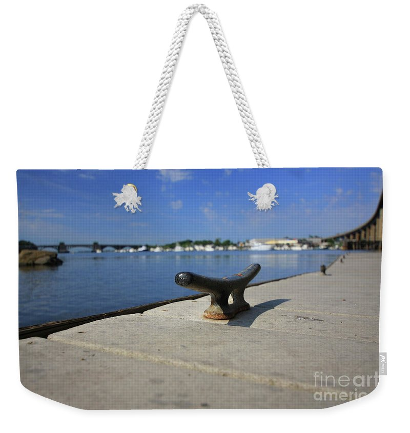Coastal Weekender Tote Bag featuring the photograph Dock's View by Karol Livote