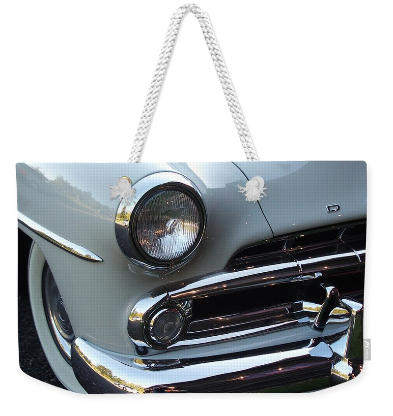 Dodge Weekender Tote Bag featuring the photograph Dodge by Tim Nyberg
