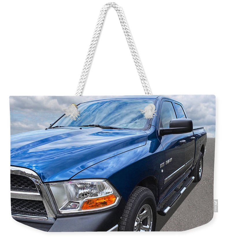 Dodge Truck Weekender Tote Bag featuring the photograph Dodge Ram 5.7 Hemi by Gill Billington