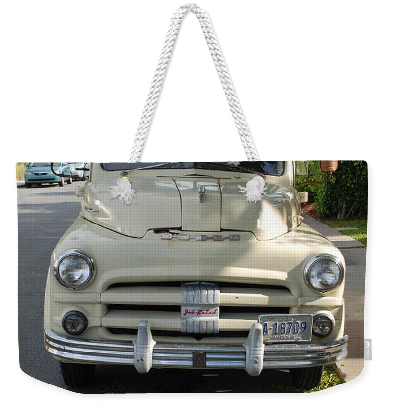 Truck Weekender Tote Bag featuring the photograph Dodge by Rob Hans