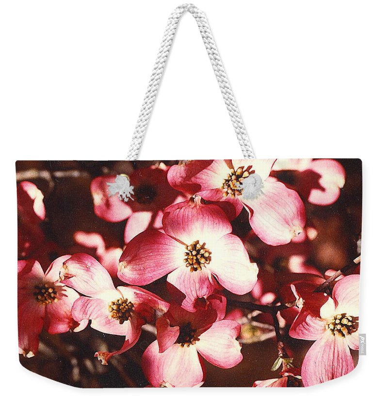 Dogwood Weekender Tote Bag featuring the photograph Dogwood Harmony by Nancy Mueller