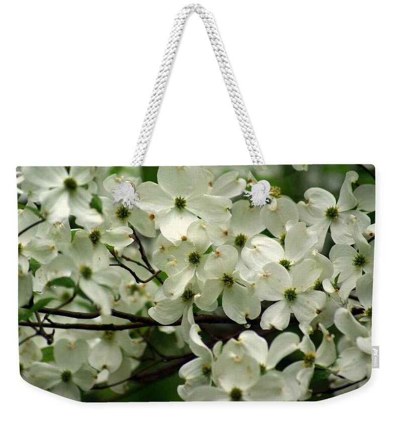 Dogwood Weekender Tote Bag featuring the photograph Dogwoods by Marty Koch