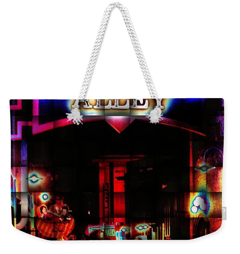 Post Alley Weekender Tote Bag featuring the digital art Doing The Post Alley Weave by Tim Allen