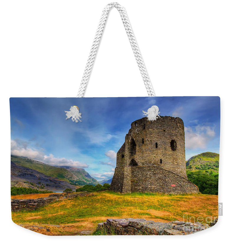 Dolbadarn Castle Weekender Tote Bag featuring the photograph Dolbadarn Castle by Adrian Evans