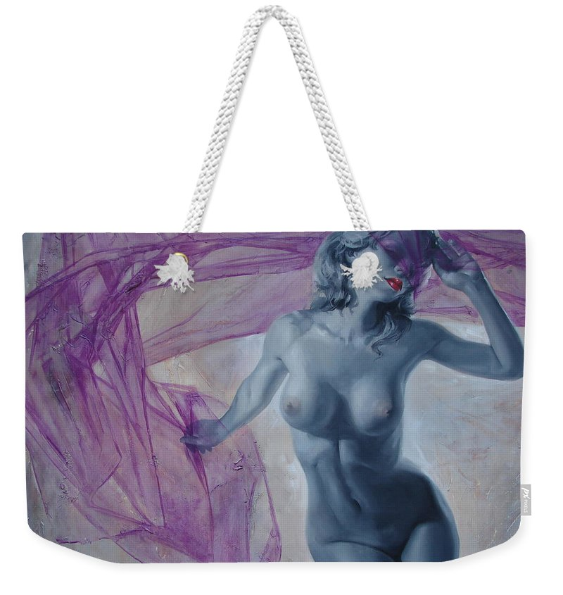 Ignatenko Weekender Tote Bag featuring the painting Doll by Sergey Ignatenko