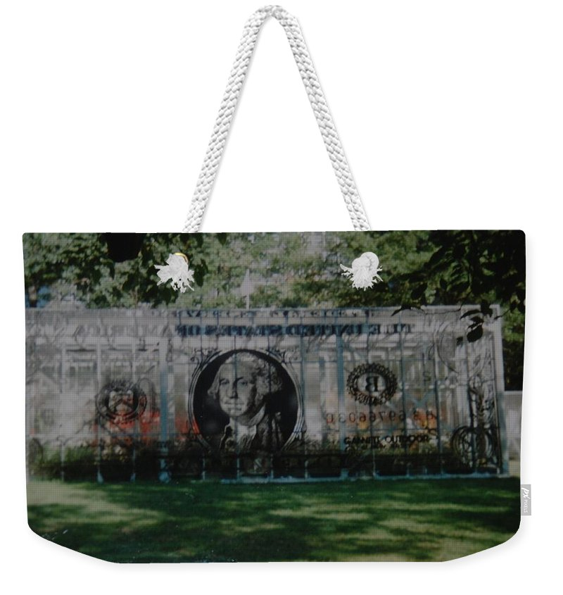Park Weekender Tote Bag featuring the photograph Dollar Bill by Rob Hans