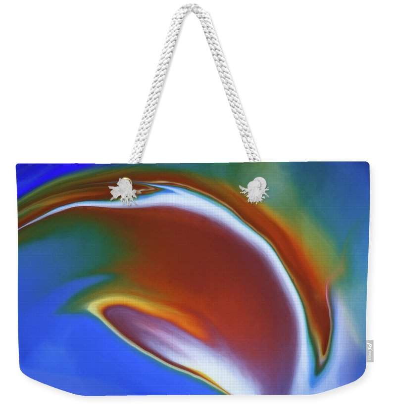 Abstract Weekender Tote Bag featuring the photograph Dolphin Dive by Patti Schulze
