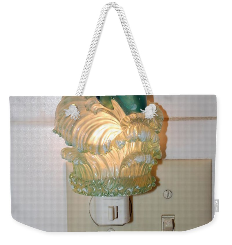 Dolphins Weekender Tote Bag featuring the photograph Dolphin Night Light by Rob Hans