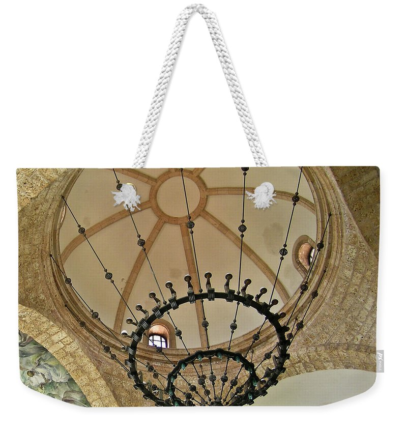 Dome Weekender Tote Bag featuring the photograph Dome Structure And Decoration by Douglas Barnett
