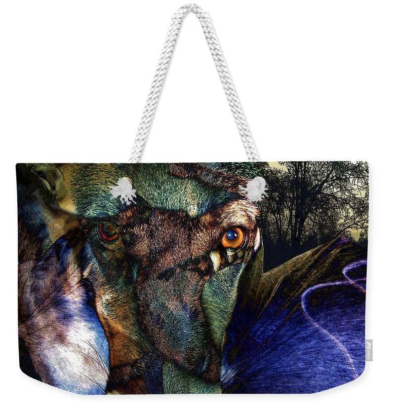 Dog Weekender Tote Bag featuring the photograph Domesticated by Ron Bissett