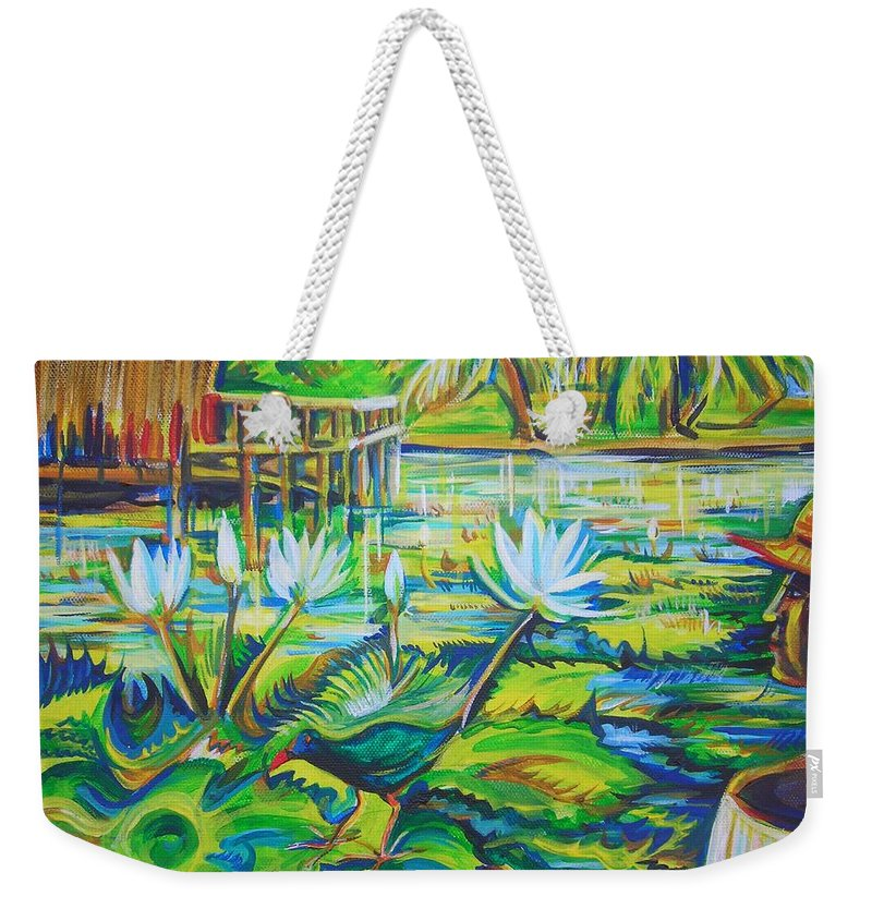 Tropics Weekender Tote Bag featuring the painting Dominicana by Anna Duyunova