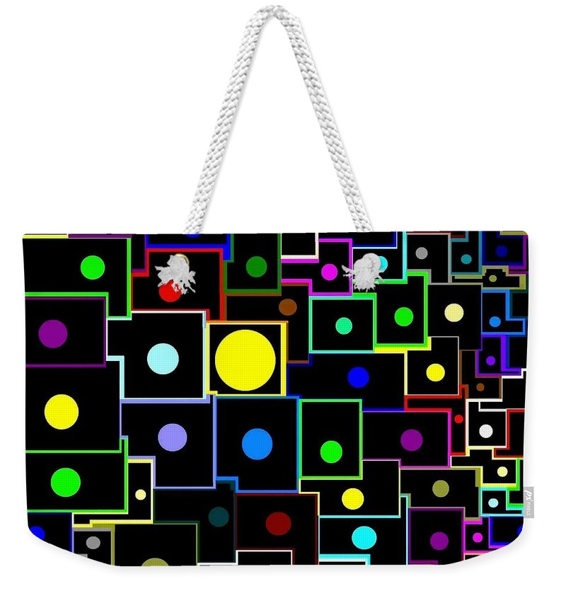 Abstract Weekender Tote Bag featuring the digital art Domino Effect by Will Borden