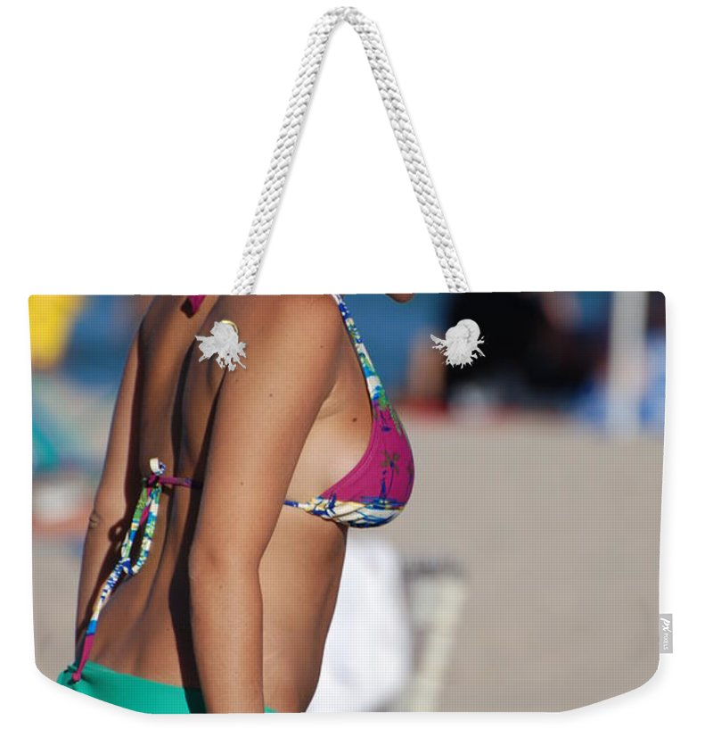 Girl Weekender Tote Bag featuring the photograph Domino by Rob Hans