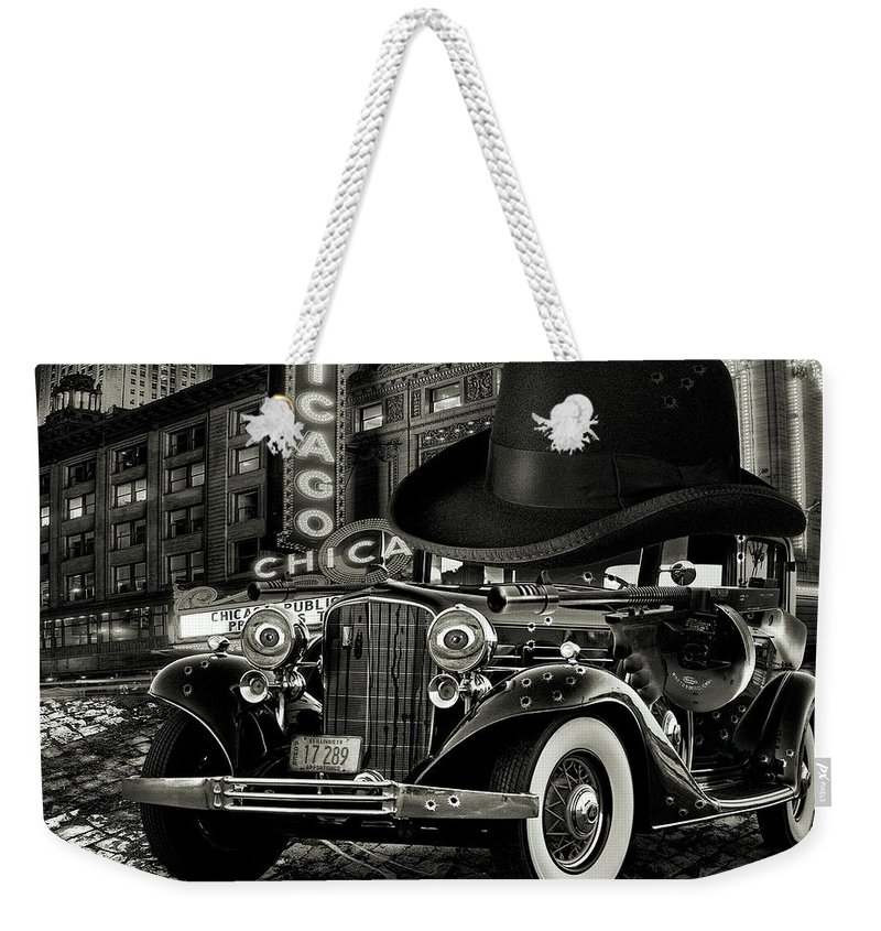 American Weekender Tote Bag featuring the digital art Don Cadillacchio Black And White by Marian Voicu