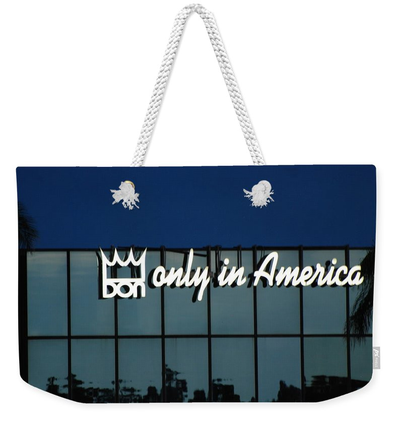 King Weekender Tote Bag featuring the photograph Don King Only In America by Rob Hans