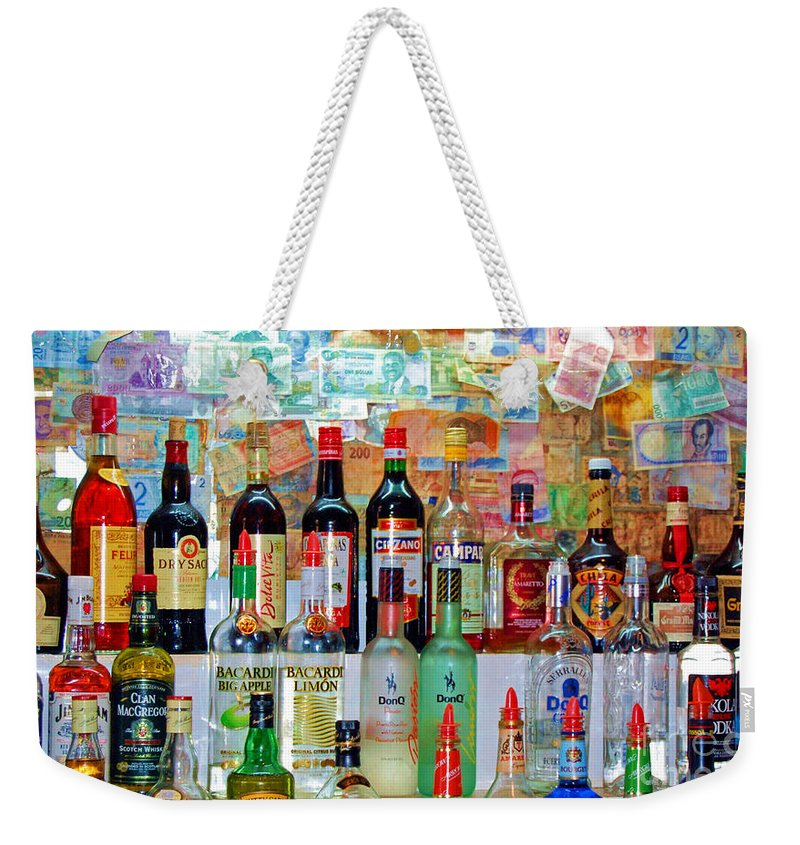 Liquor Weekender Tote Bag featuring the photograph Don Q by Debbi Granruth