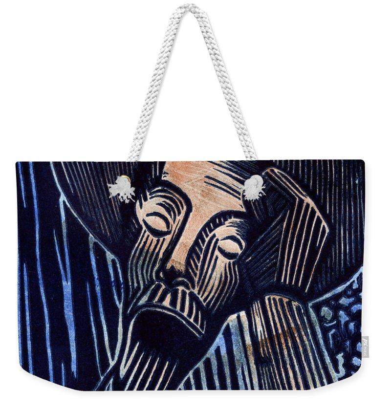 Sheryl Karas Weekender Tote Bag featuring the mixed media Don Quixote by Sheryl Karas