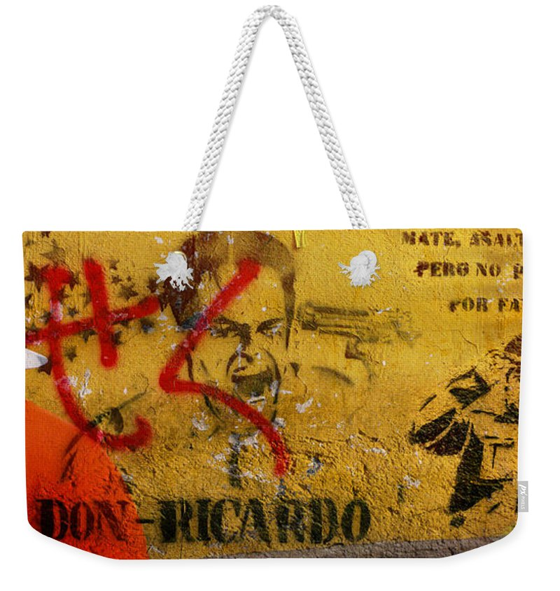 Grafitti Weekender Tote Bag featuring the photograph Don-Ricardo by Skip Hunt