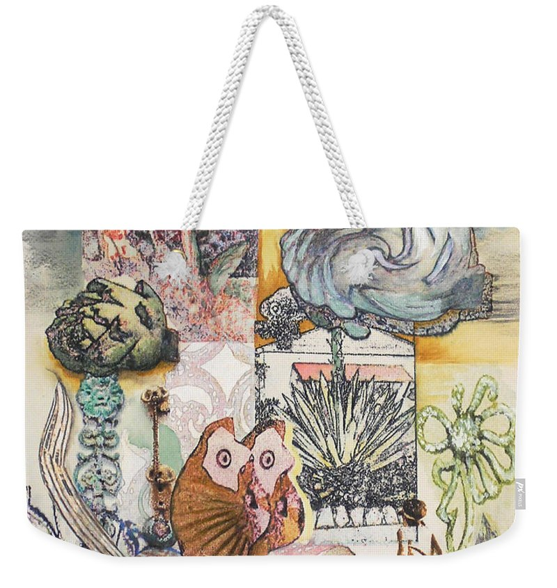 Abstract Weekender Tote Bag featuring the painting Don't Artichoke by Valerie Meotti