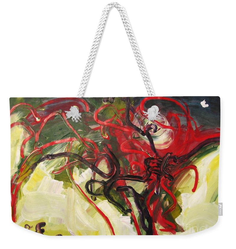 Abstract Paintings Paintings Abstract Art Paintings Weekender Tote Bag featuring the painting Don't Bother Me by Seon-Jeong Kim