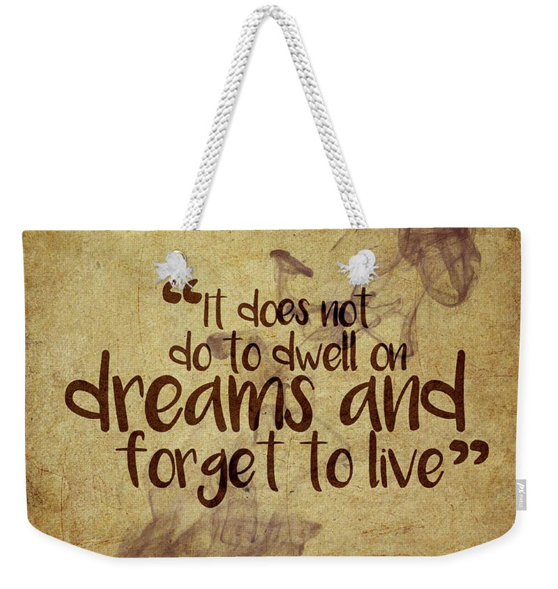 Harry Potter Weekender Tote Bag featuring the digital art Don't Dwell On Dreams by Samuel Whitton