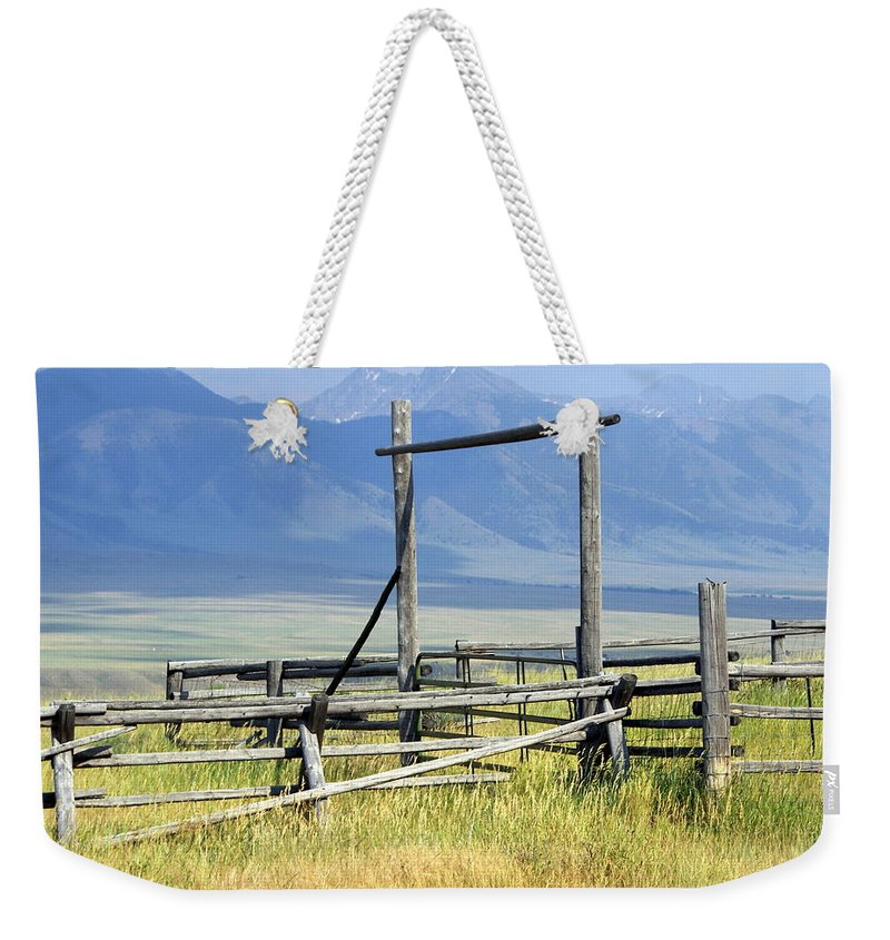 Mountains Weekender Tote Bag featuring the photograph Don't Fence Me In by Marty Koch