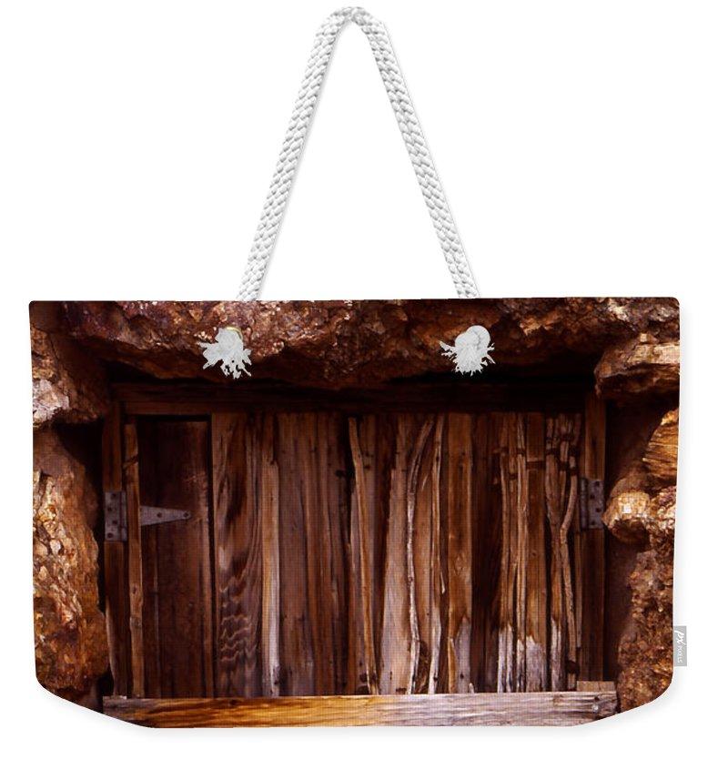 Door Weekender Tote Bag featuring the photograph Door by Karen Ulvestad