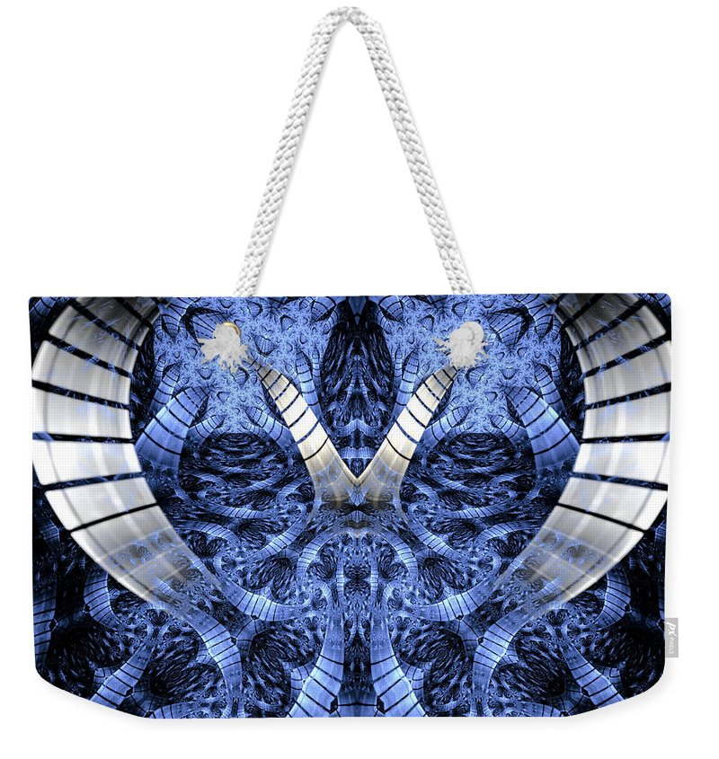 Fractal Weekender Tote Bag featuring the digital art Door To Another World by Amorina Ashton