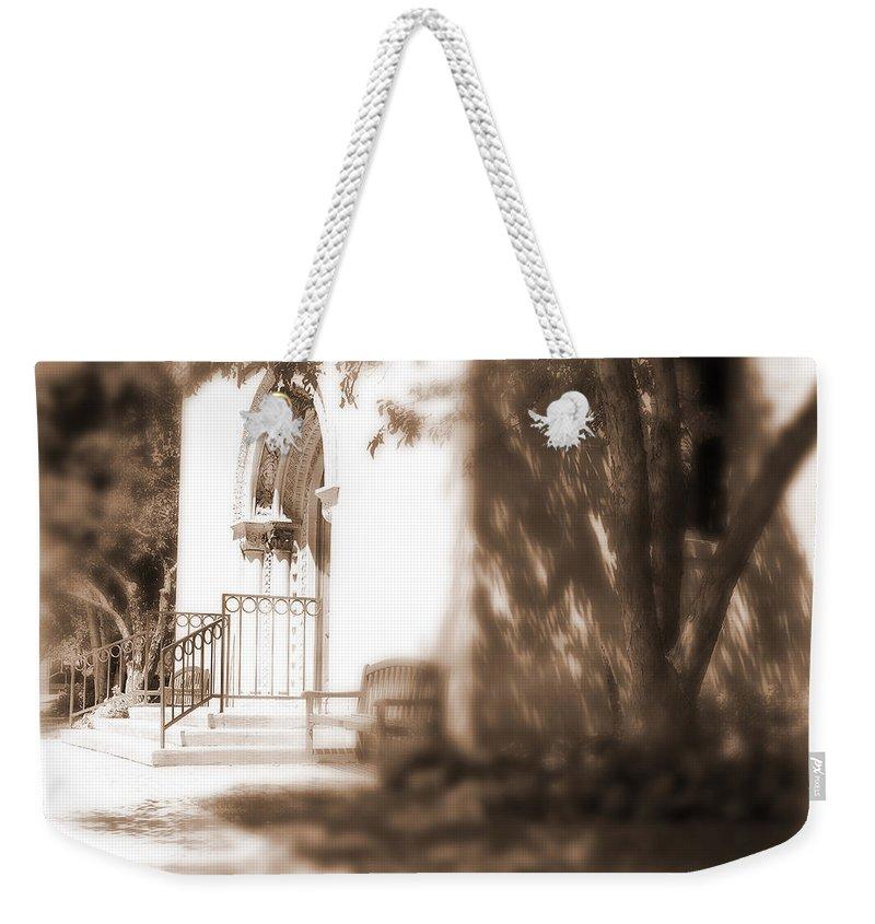 Lauren Radke Weekender Tote Bag featuring the photograph Door To Yesterday by Lauren Radke