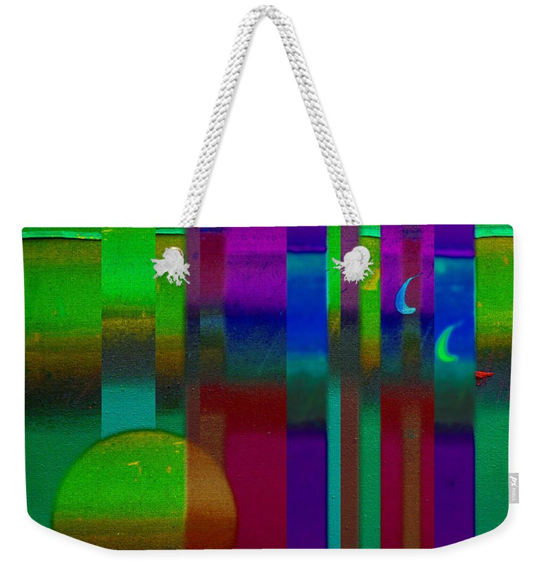 Landscape Weekender Tote Bag featuring the painting Doors In Green by Charles Stuart