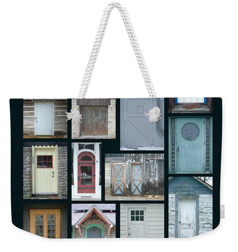 Doors Weekender Tote Bag featuring the photograph Doors Of Door County Poster by Tim Nyberg