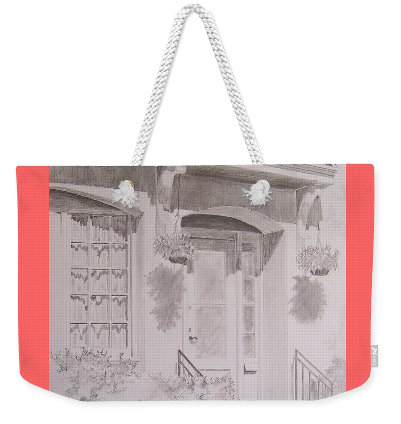 Doorway Weekender Tote Bag featuring the drawing Doorway by Jackie Mueller-Jones