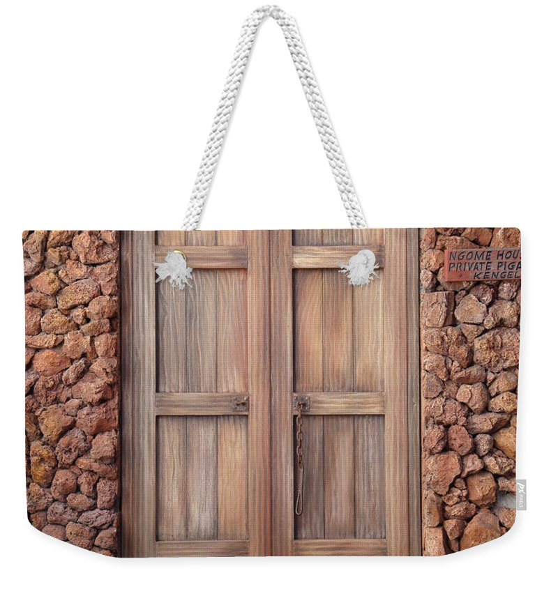 Earthtones Weekender Tote Bag featuring the photograph Doorway Steps Back In Time by Kim Chernecky