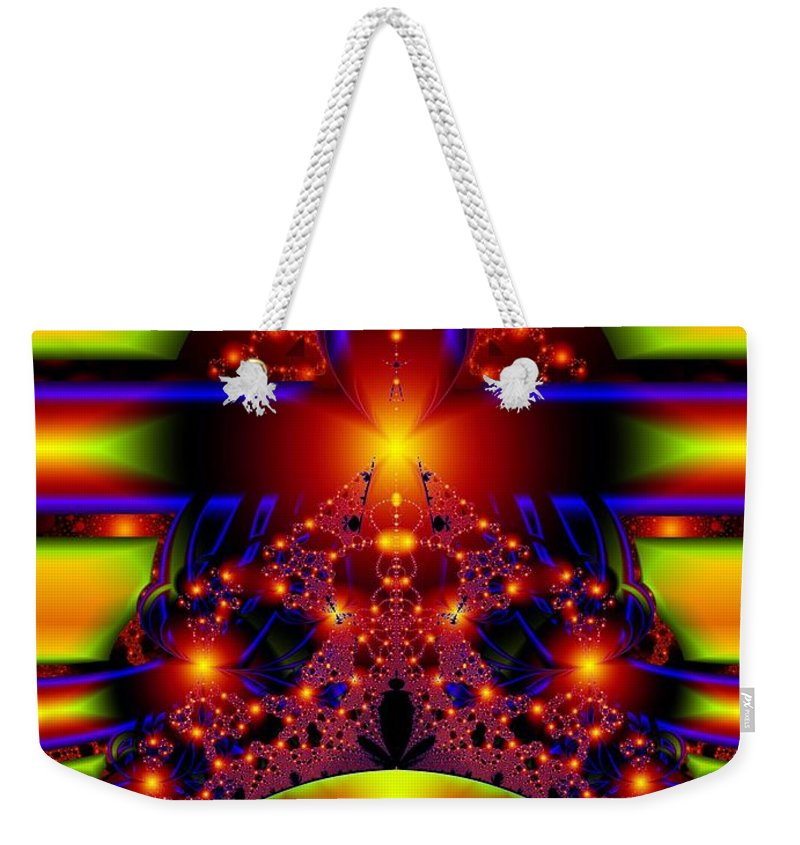 Door Art Weekender Tote Bag featuring the digital art Doorway To The Universe Detail by Ron Bissett