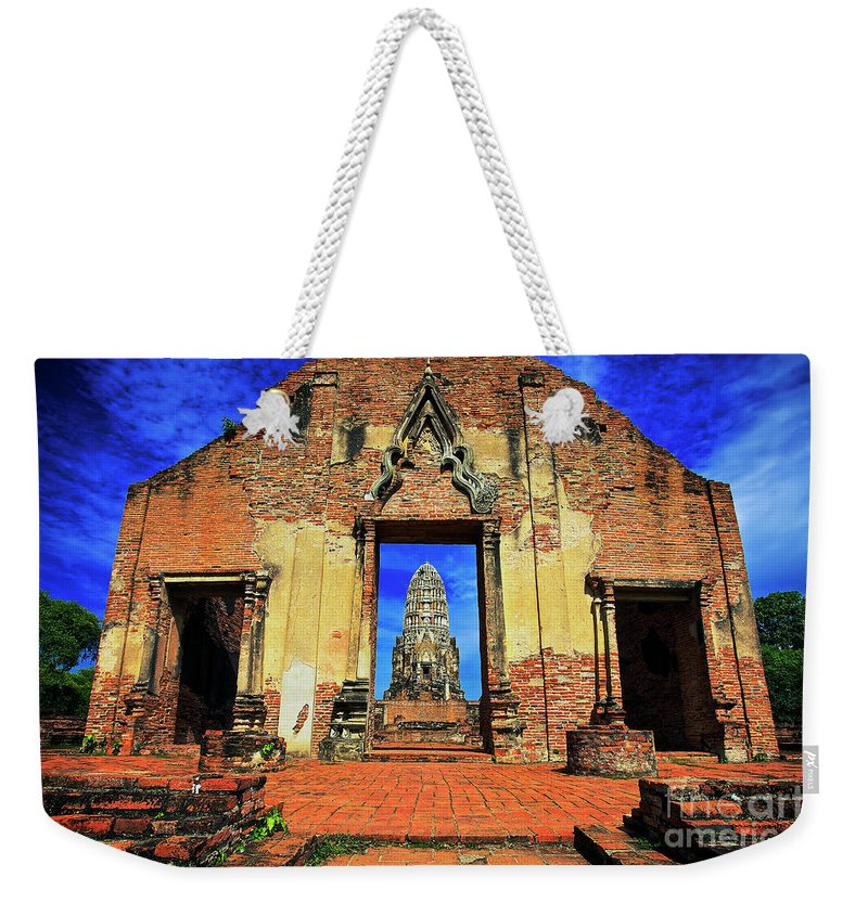 Ayuthaya Weekender Tote Bag featuring the photograph Doorway To Wat Ratburana In Ayutthaya, Thailand by Sam Antonio Photography