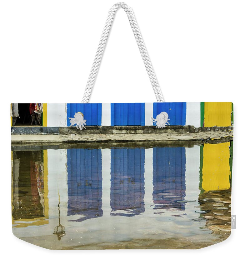 Landscape Weekender Tote Bag featuring the photograph Doorways In Paraty by Stan Roban
