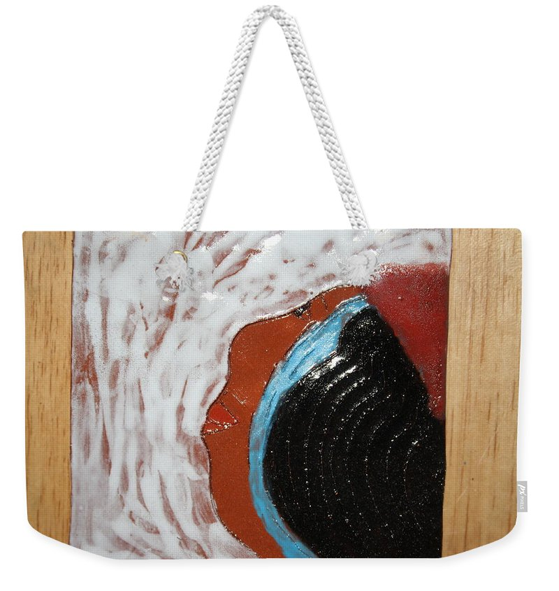 Jesus Weekender Tote Bag featuring the ceramic art Doreen - Tile by Gloria Ssali