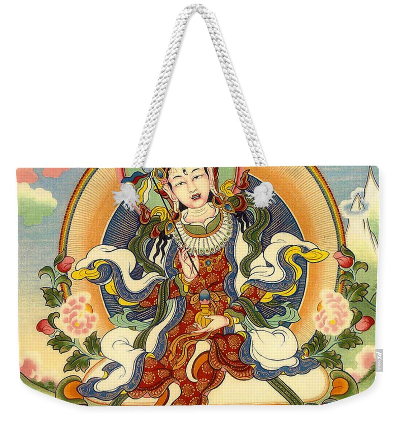 Thangka Weekender Tote Bag featuring the painting Dorje Yudronma by Sergey Noskov
