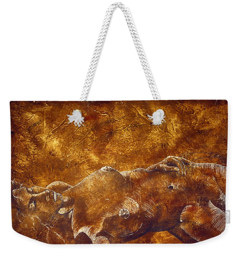 Nude Weekender Tote Bag featuring the painting Dorothy Iv by Richard Hoedl