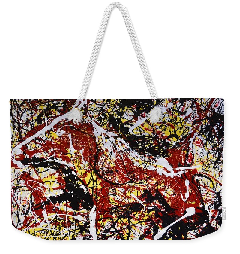 Impressionist Painting Weekender Tote Bag featuring the painting Dos Caballos by J R Seymour