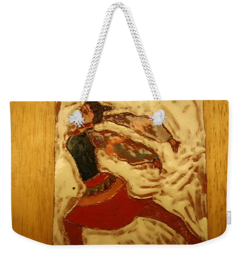 Jesus Weekender Tote Bag featuring the ceramic art Double Dutch - Tile by Gloria Ssali