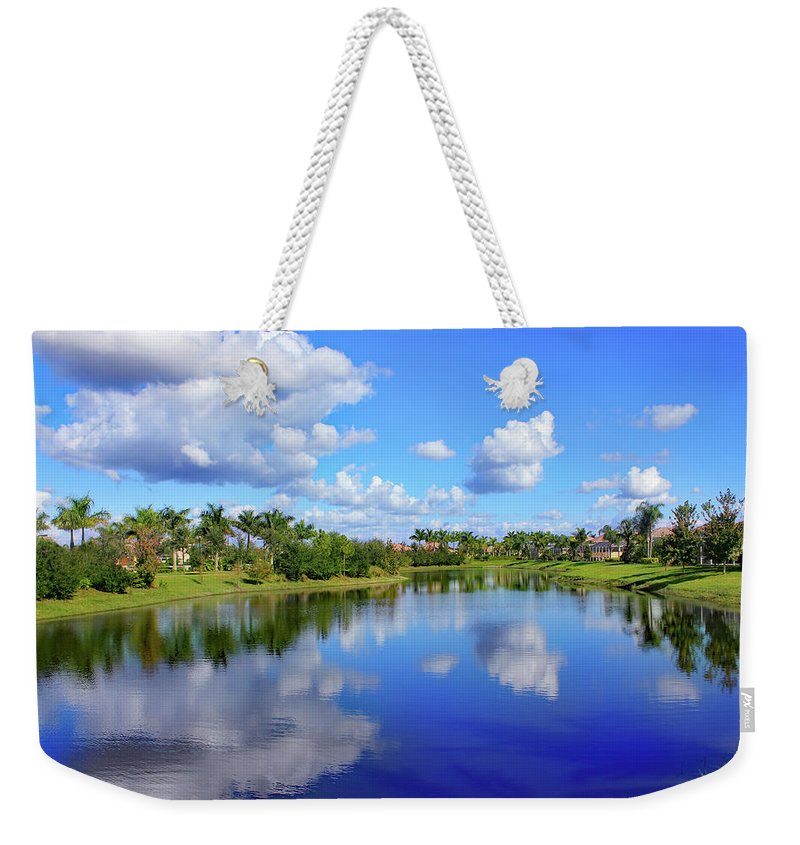 Bonita Springs Weekender Tote Bag featuring the photograph Double Impression by Iryna Goodall