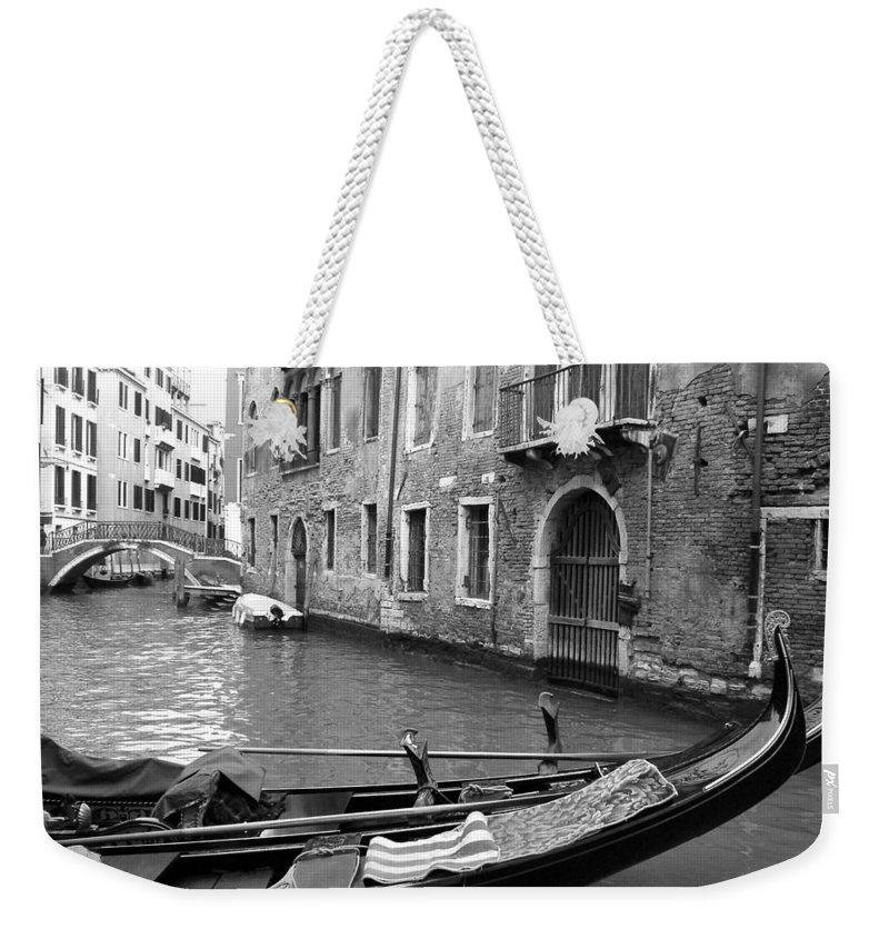 Venice Weekender Tote Bag featuring the photograph Double Parked by Donna Corless
