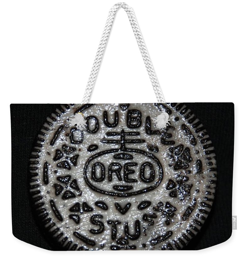 Oreo Weekender Tote Bag featuring the photograph Double Stuff Oreo by Rob Hans