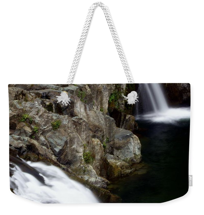 Waterfalls Weekender Tote Bag featuring the photograph Double Twin by Marty Koch