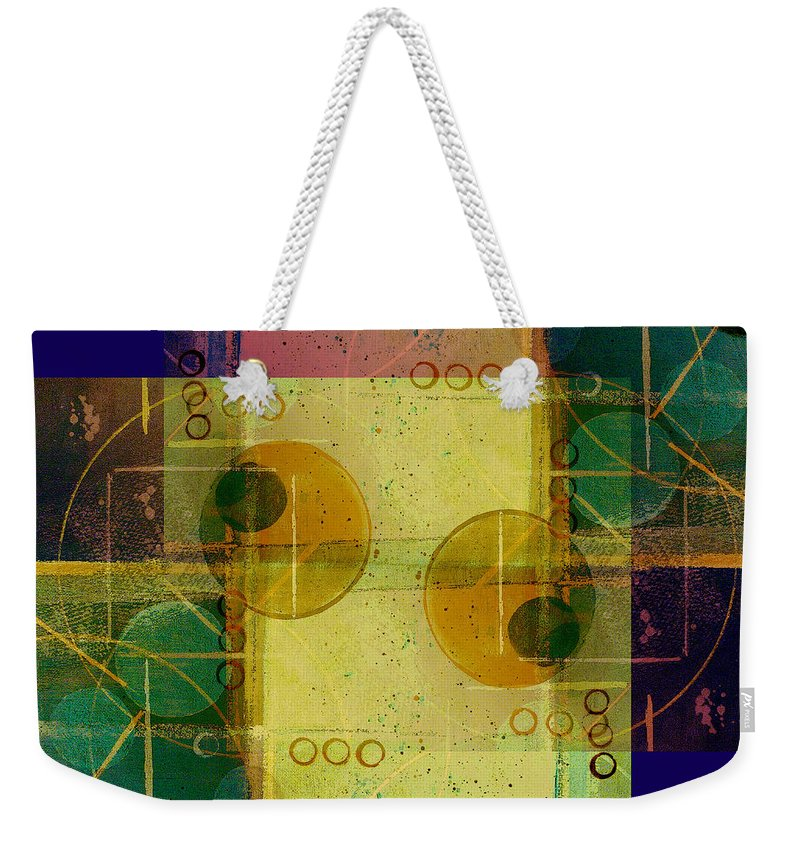 Abstract Weekender Tote Bag featuring the digital art Double Vision by Ruth Palmer