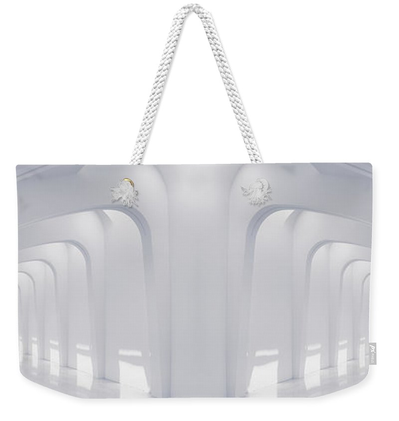 Hallway Weekender Tote Bag featuring the photograph Doubled Arches by Scott Norris