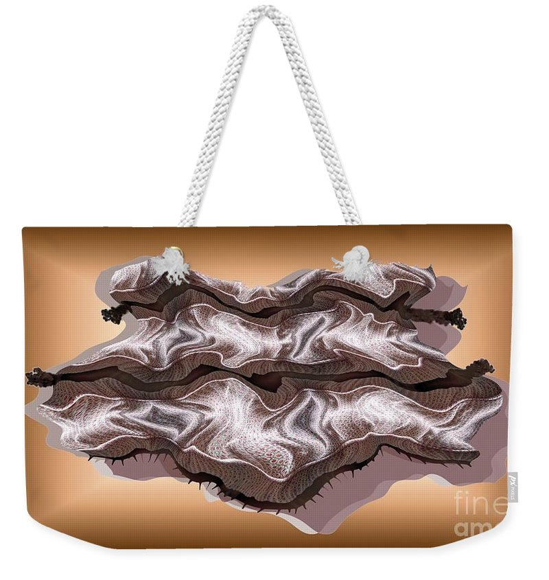 Abstract Weekender Tote Bag featuring the digital art Doubt Its Redoubt by Ron Bissett